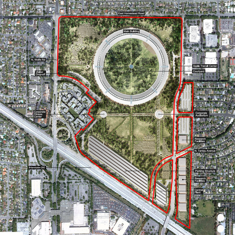 Apple Construction Dimensions: Apple Campus 2 High-res Renderings42Concepts