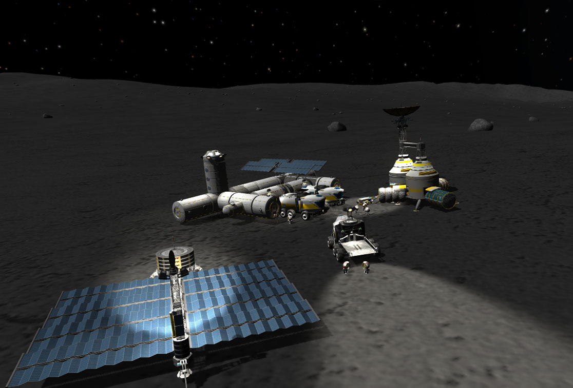 Kerbal Space Program - The Impact on Mun /by @baekdal